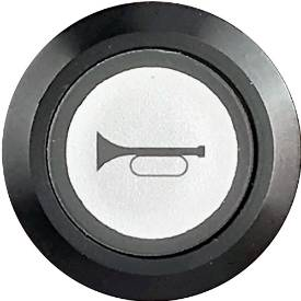 Picture of Momentary Horn Switch Illuminated Black Bezel