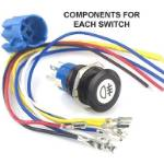 Picture of Plain Momentary Switch Illuminated Black Bezel
