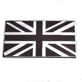 Picture of Chrome and Black Union Jack Emblem