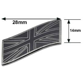 Picture of Wavy Smoked Chrome and Black Union Jack Emblem