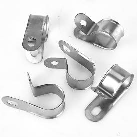 Picture of Vintage Style Unlined Wide Stainless Steel P-Clips 20mm Pack of 5