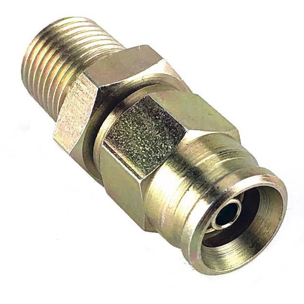 """Picture of 1/8"""" NPT Male to #3 PTFE Braided Brake Hose"""
