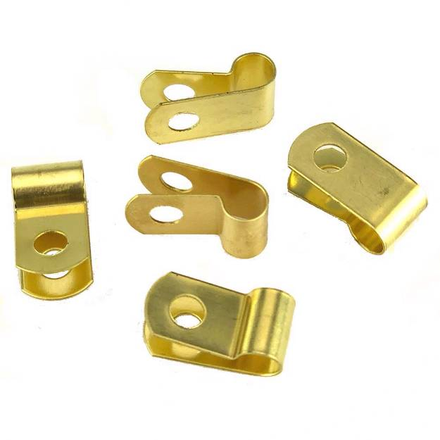 Picture of Messing 6mm 'P' Clips Packung mit 5 Stück