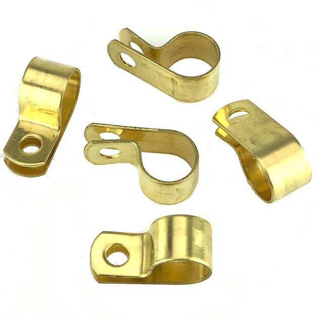 Picture of Messing 12,7 mm 'P' Clips Packung mit 5 Stück