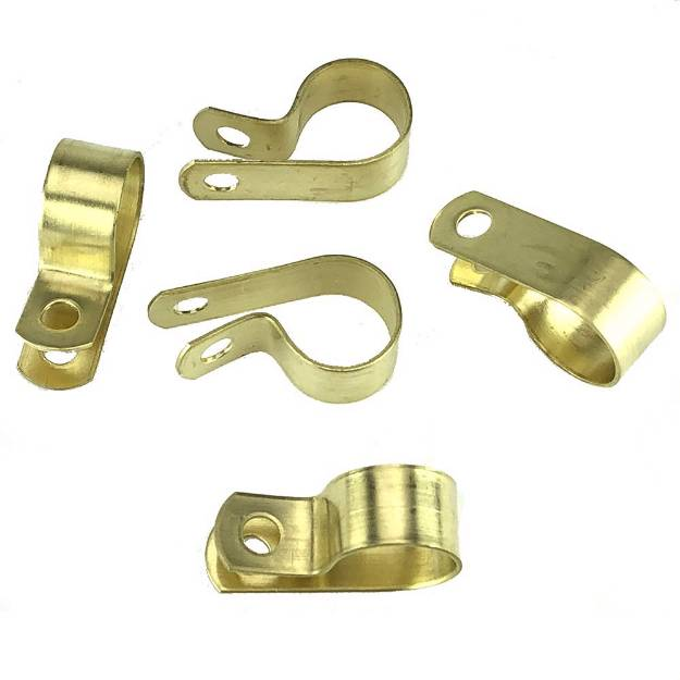 Picture of Messing 16mm 'P' Clips Packung mit 5 Stück