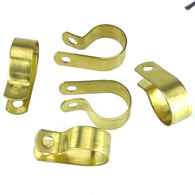 Picture of Messing 19mm 'P' Clips Packung mit 5 Stück