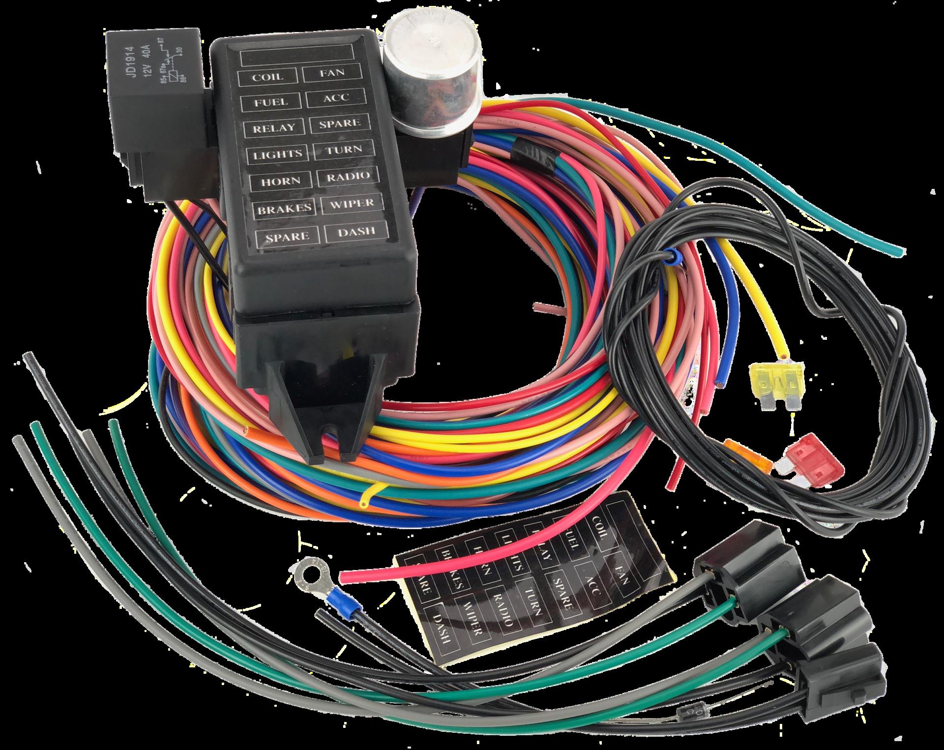 14 Circuit Wiring Loom From Car Builder