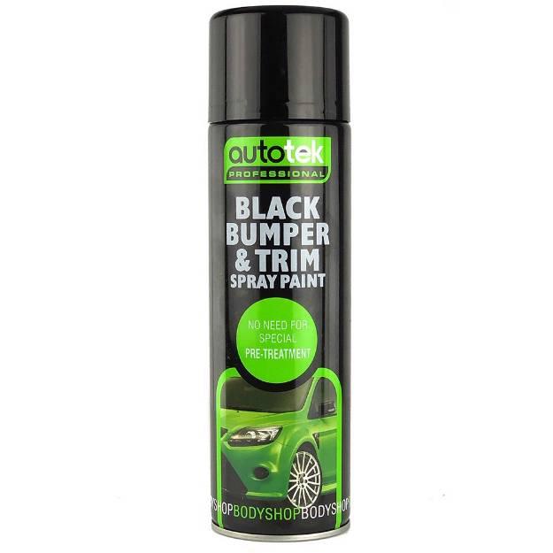 Picture of Autotek Black Bumper and Trim Aerosol Paint