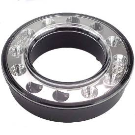 Picture of 95mm LED Dual Concentric Lamp Outer Ring Clear Lens Stop and Tail