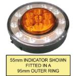 Picture of 95mm LED Dual Concentric Lamp Outer Ring Rear Clear Lens Indicator