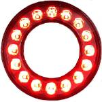 Picture of 95mm LED Dual Concentric Lamp Outer Ring Rear Clear Lens Rear Fog
