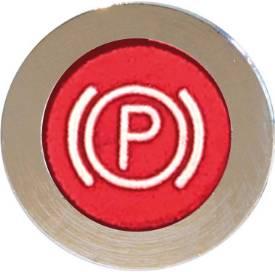 Picture of LED Chrome Bezel Warning Light Handbrake Red