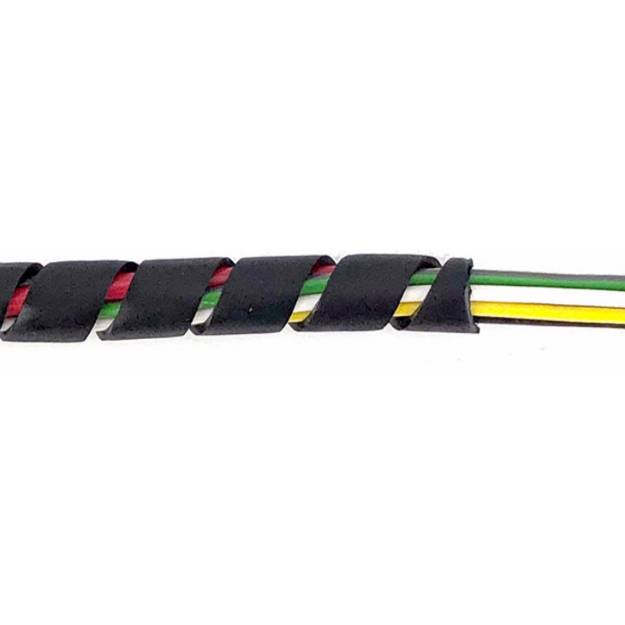 Picture of Black Spirap Cable Binding Medium For 5-20mm Per Metre