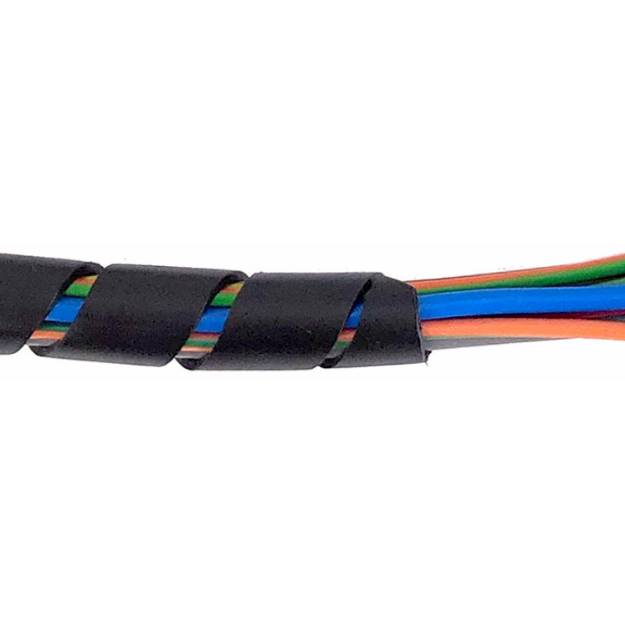 Picture of Black Spirap Cable Binding Large For 10-40mm Per Metre