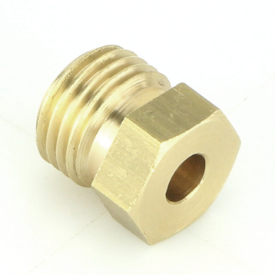 """Brass 1/2"""" UNF"""" Male Union For 3/16 Pipe"""