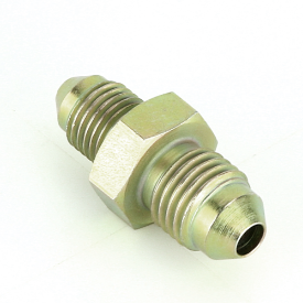 """In-Line Connector 7/16"""" unf male to 3/8"""" unf Male"""