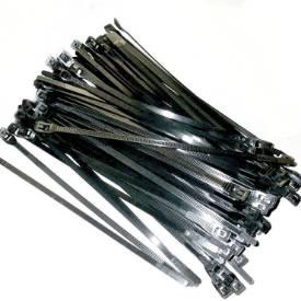 """7"""" Black Flattie Cable Ties 100 Pack"""