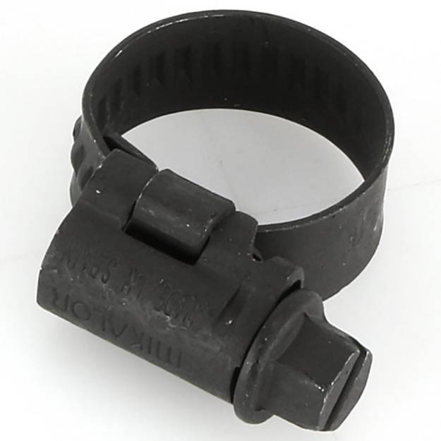 Black Coated Stainless Steel Hose Clip 8 - 16mm Sold Singly
