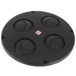 Black air shutter for rooftop ventilator