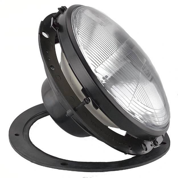 """Picture of 7"""" Half Bowl Black Rim Headlamp Unit"""