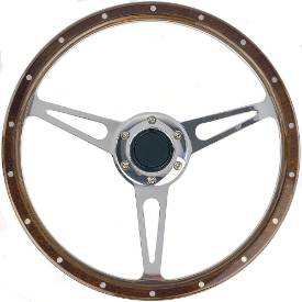 Picture of Wood Rim Steering Wheel 70mm PCD.  3 Diameters