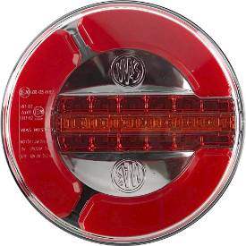 Bild von 140mm LED Round Stop Tail and Sequencing Indicator Lamps Pair