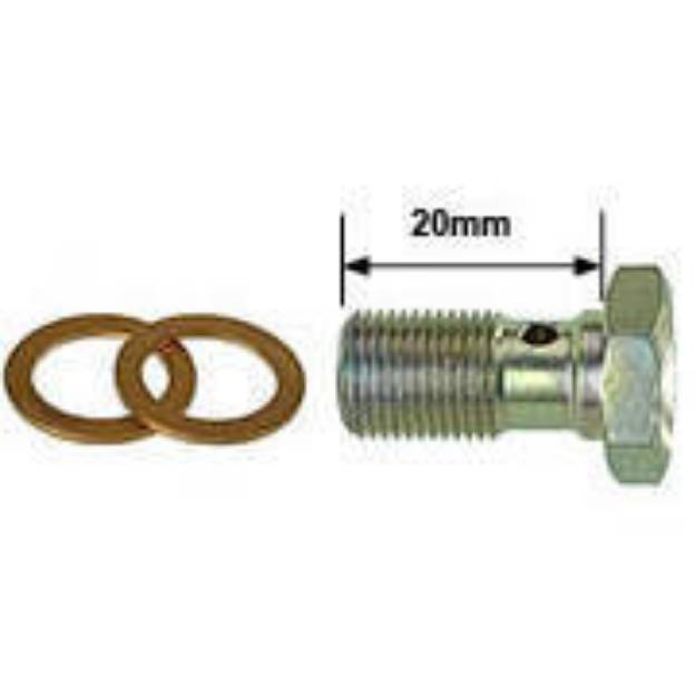 """Picture of 1/8"""" BSP (Parallel Thread) Banjo Bolt"""