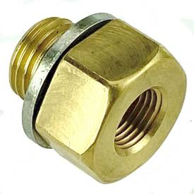 Picture of Brass Adapter 1/4 BSP Male to 1/8 NPT Female