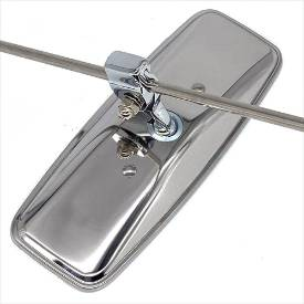 Picture of Stainless Steel Rod Mounted Sliding Clamp Interior Mirror