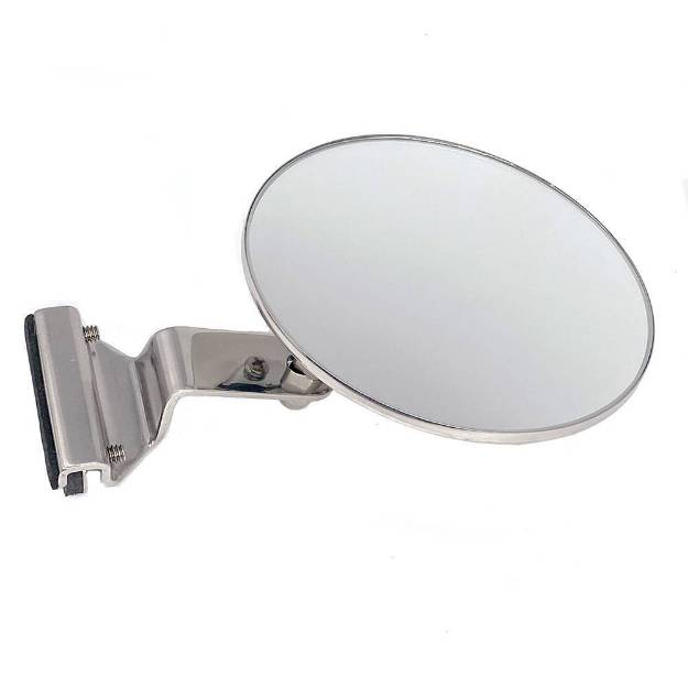 Picture of Round Clip On Mirror With Flat Plate Mounting