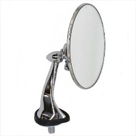 Picture of Stainless and Chrome Round Wing Mirrors Handed Pair FLAT GLASS