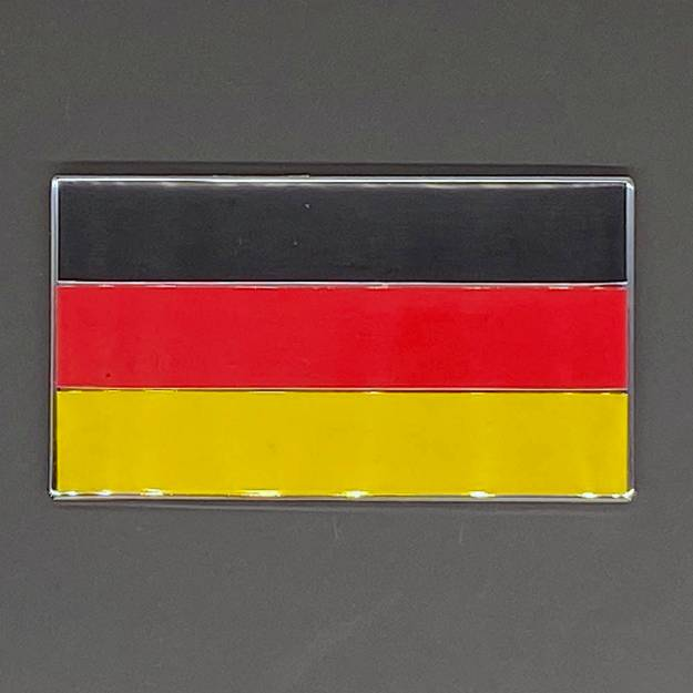 Picture of Three Colour German Flag Enamel Badge 51x29mm