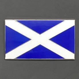 Bild von Blue and White Scottish Flag Enamel Badge 51x29mm