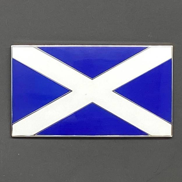 Picture of Blue and White Scottish Flag Enamel Badge 51x29mm