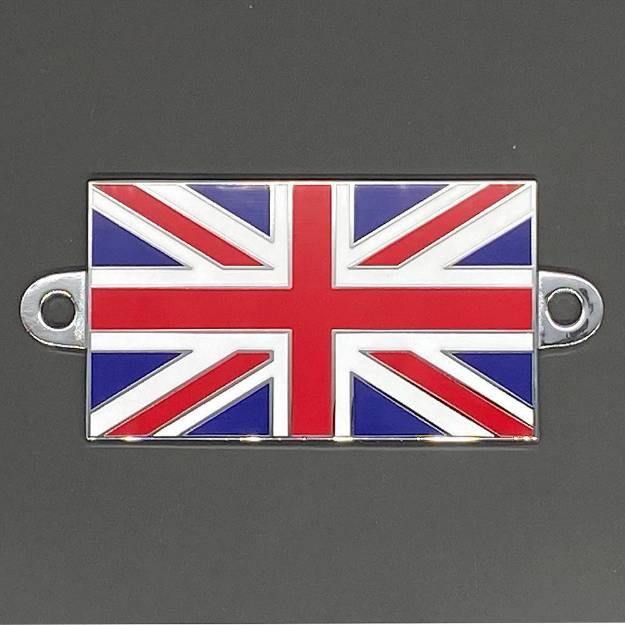 Picture of Union Jack Flag Enamel Badge 51x29mm With Fixing Holes