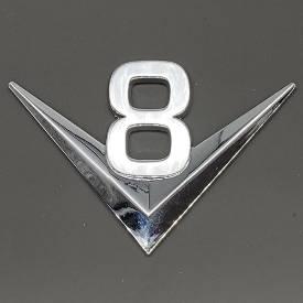 Bild von Chrome V8 Script Badge Self-Adhesive