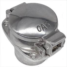 Picture of 63mm Aston Style Alloy Fuel Cap and Neck Assembly