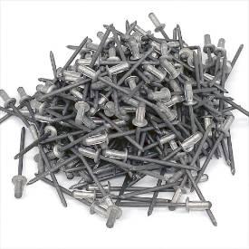 Bild von 3mm x 8mm Dome Head Aluminium Rivets Pack of 200 NEW OLD STOCK