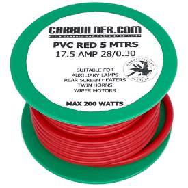 Picture of 17 Amp Single 5 Metre Red Reel