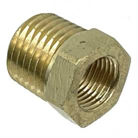 """Picture of Brass Union 1/4""""NPT Male to 1/8""""NPT Female"""