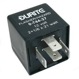 Picture of Black Hazard and Flasher Relay 4 PIN 98 Watt Max