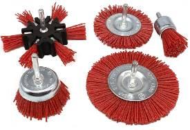 Bild von 5 Piece Abrasive Nylon Rotary Brush Pack