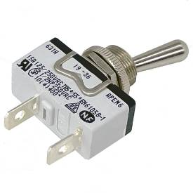 Picture of Knurled Ring Toggle Switch Off-On Single Pole